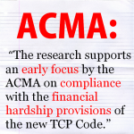 Financial Hardship Policy ACMA quote