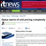 Unit Pricing:  Optus warning