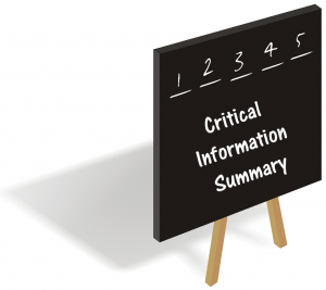 Critical Information Summary