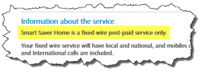 Critical Information Summary - fixed wire