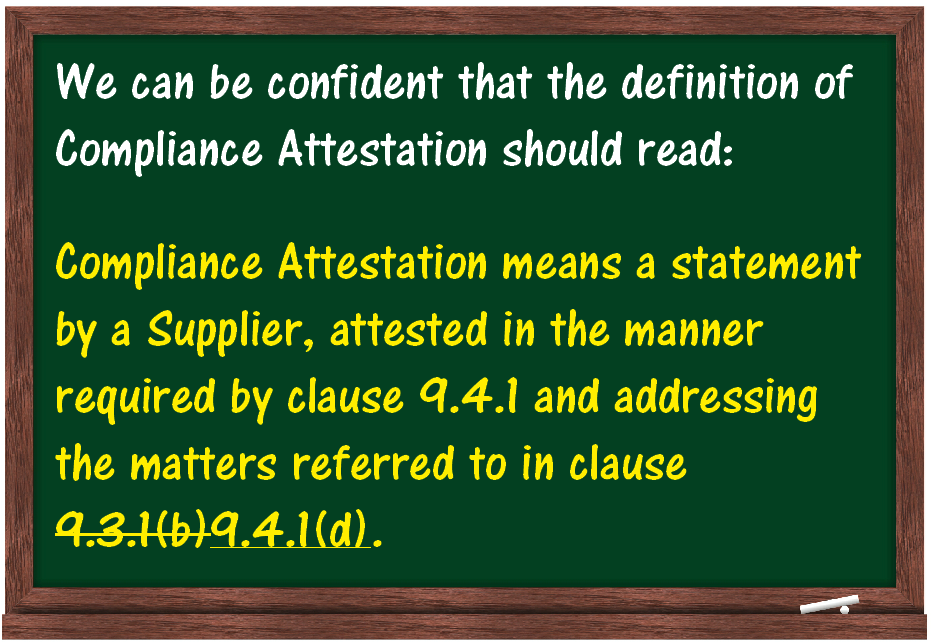 Compliance Attestation